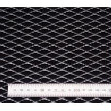 Сетка в бампер серебристая 100x25см N25